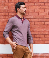 Textured Long-Sleeve Polo 6