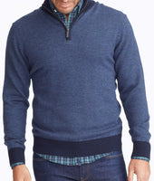 Merino Wool Herringbone Quarter-Zip 1