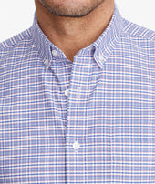 Wrinkle-Free Short-Sleeve Blufled Shirt - FINAL SALE Zoom