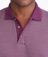 Textured Long-Sleeve Polo Zoom