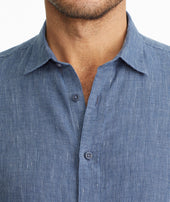 Wrinkle-Resistant Linen Short-Sleeve Canon Shirt Zoom