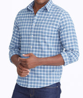 Wrinkle-Free Performance Flannel Dhais Shirt 1