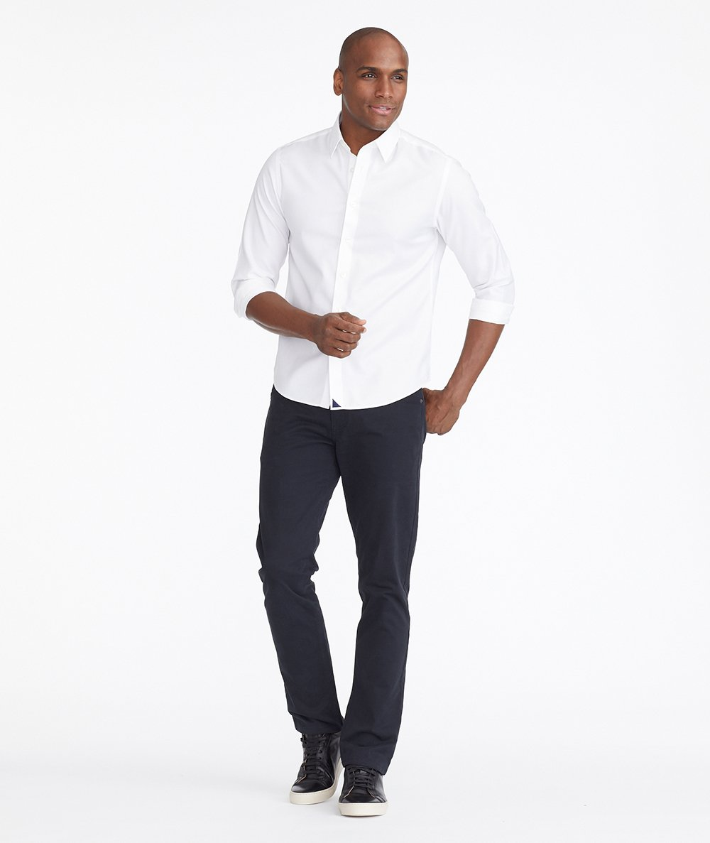 Model wearing a Black 5-Pocket Pants
