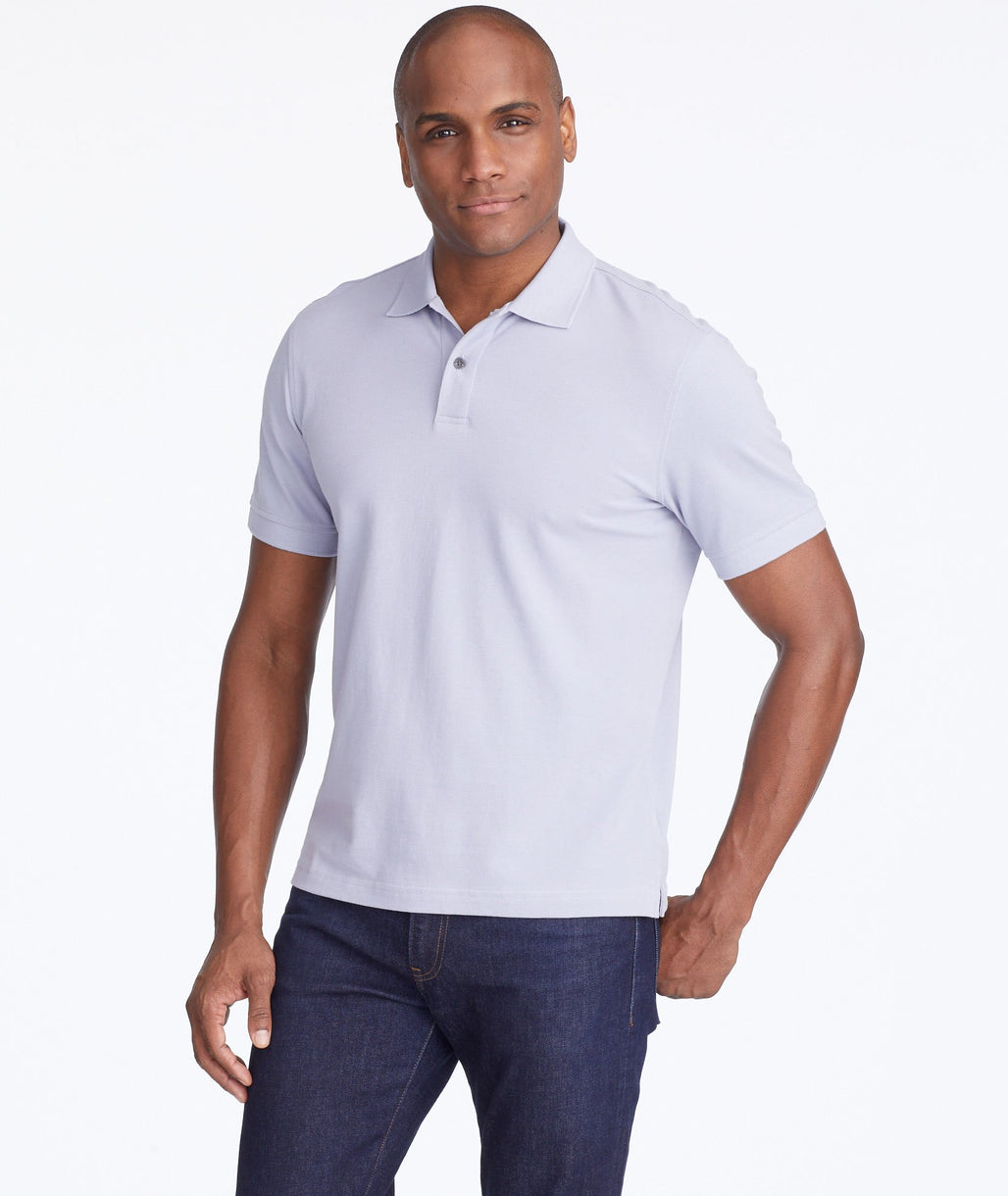 Model wearing a Light Grey Classic Pique Polo