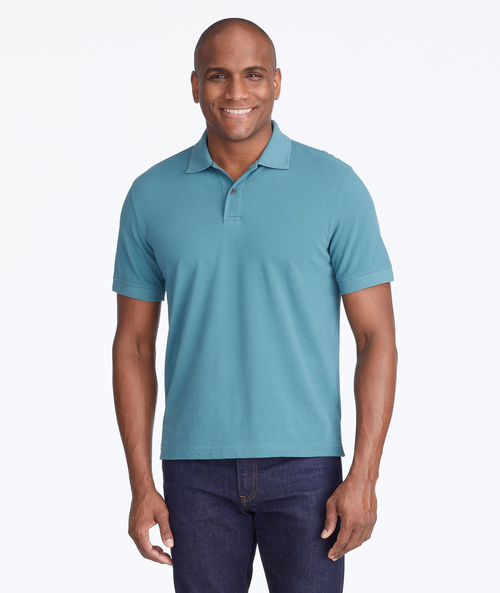 Model wearing a Light Green Classic Pique Polo