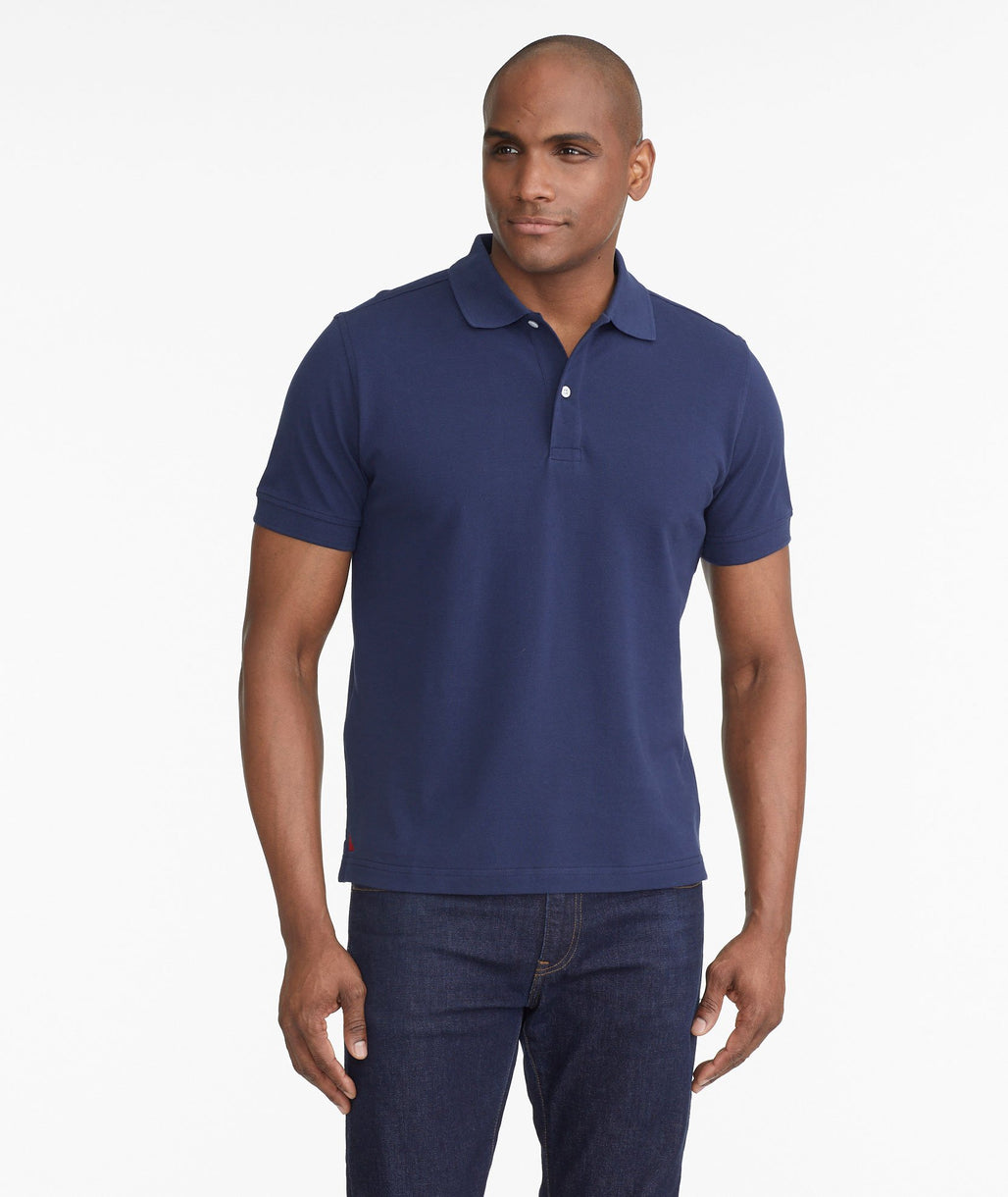 Model wearing a Navy The Classic Pique Polo