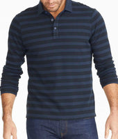 Striped Long-Sleeve Polo 1