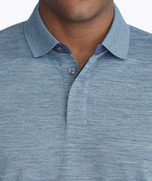 Heathered No Sweat Performance Polo Zoom