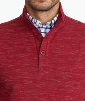 Heathered Henley Sweatshirt Zoom