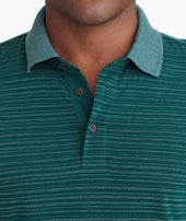 Striped Long-Sleeve Polo Zoom