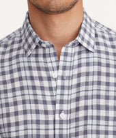 Wrinkle-Resistant Linen Short-Sleeve Oltrepo Shirt - FINAL SALE Zoom