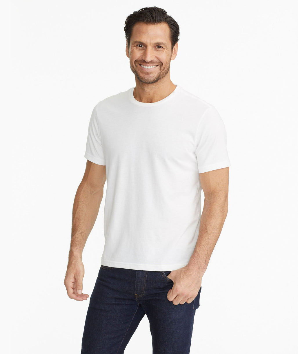 Model wearing a White The Ultrasoft Tee