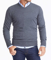 Merino Wool V-Neck Sweater 1