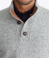 Button-Neck Donegal Sweater - FINAL SALE Zoom