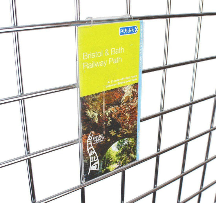 Sign / Info Holder for grid panel - 3rd A4 (99 x 210mm)