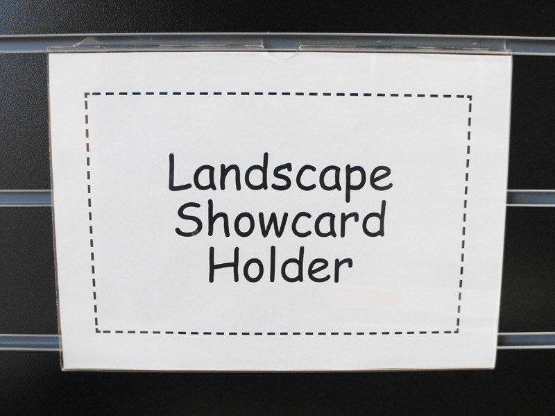 Landscape A4 Sign holder for slatwall