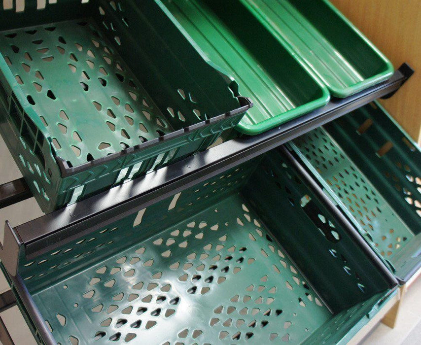 Produce Shelf 45cm deep x 1.0m wide, for baskets or trays