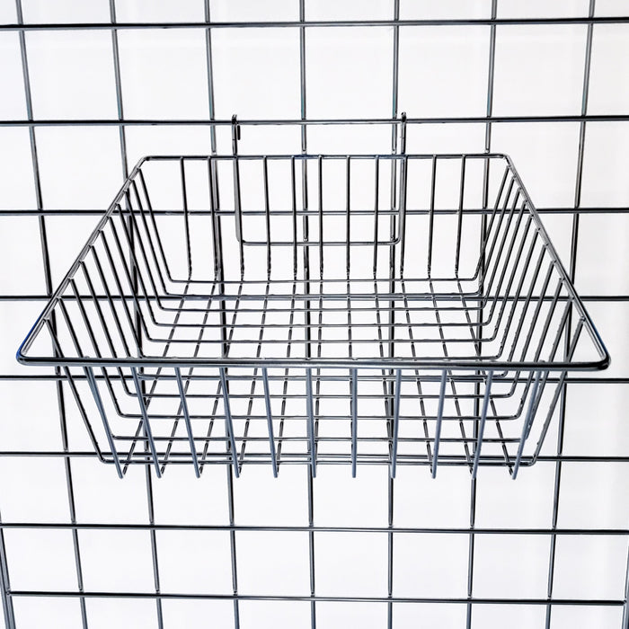Small wire basket for grid panel 30 x 30cm