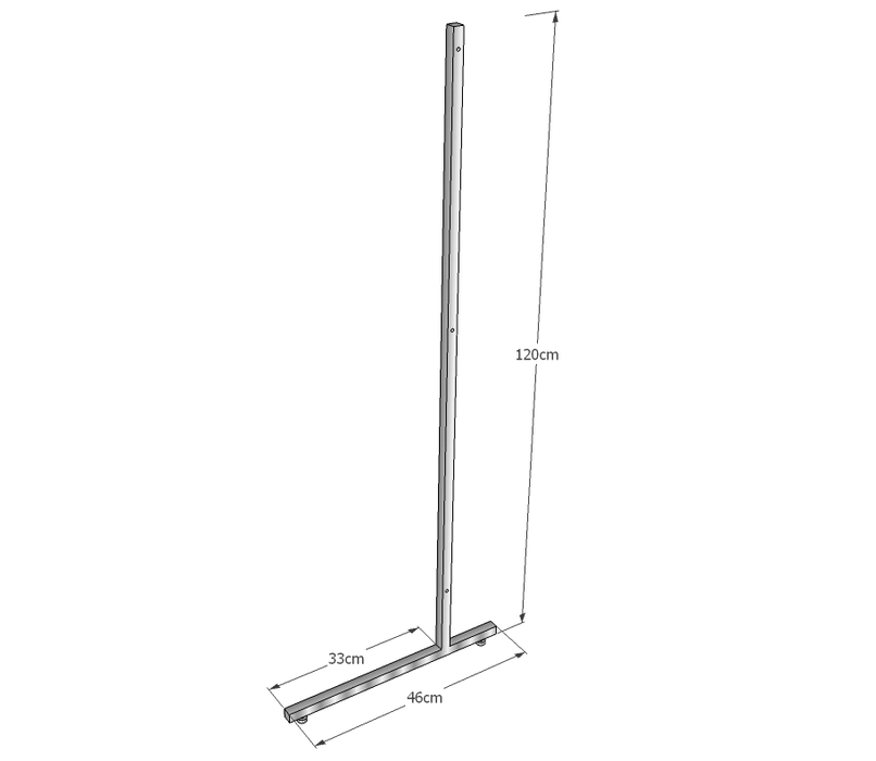 L Leg Medium Duty 120cm high, single