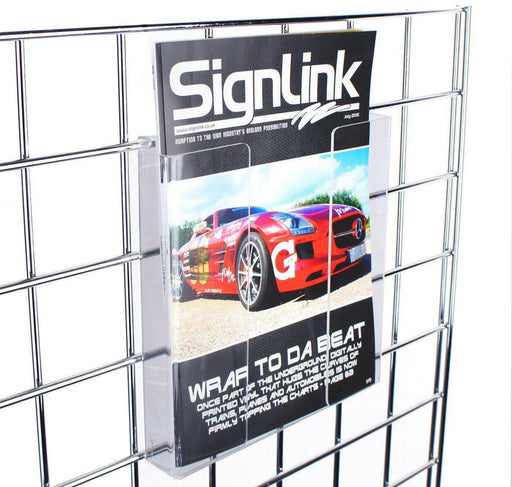 A4 leaflet holder for grid panels