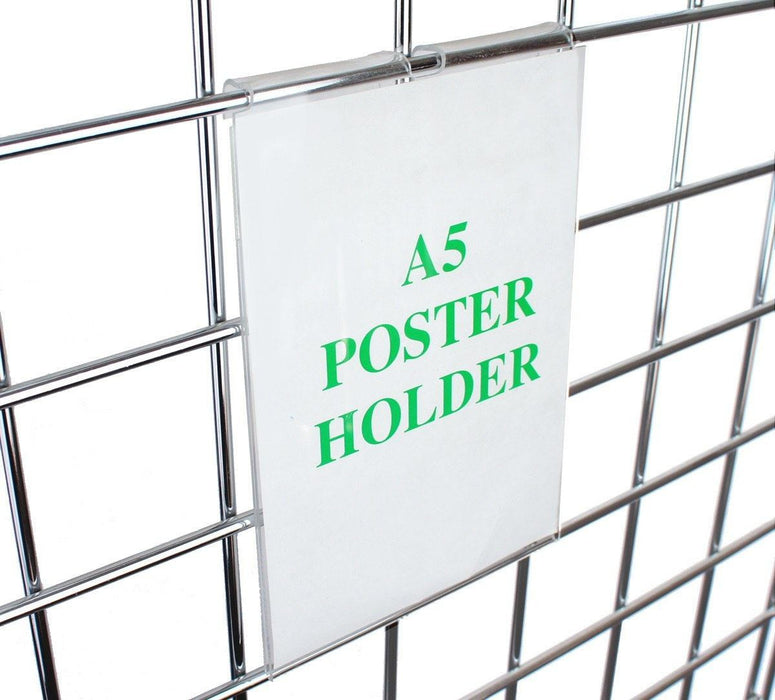 A5 poster / sign holder for grid panels