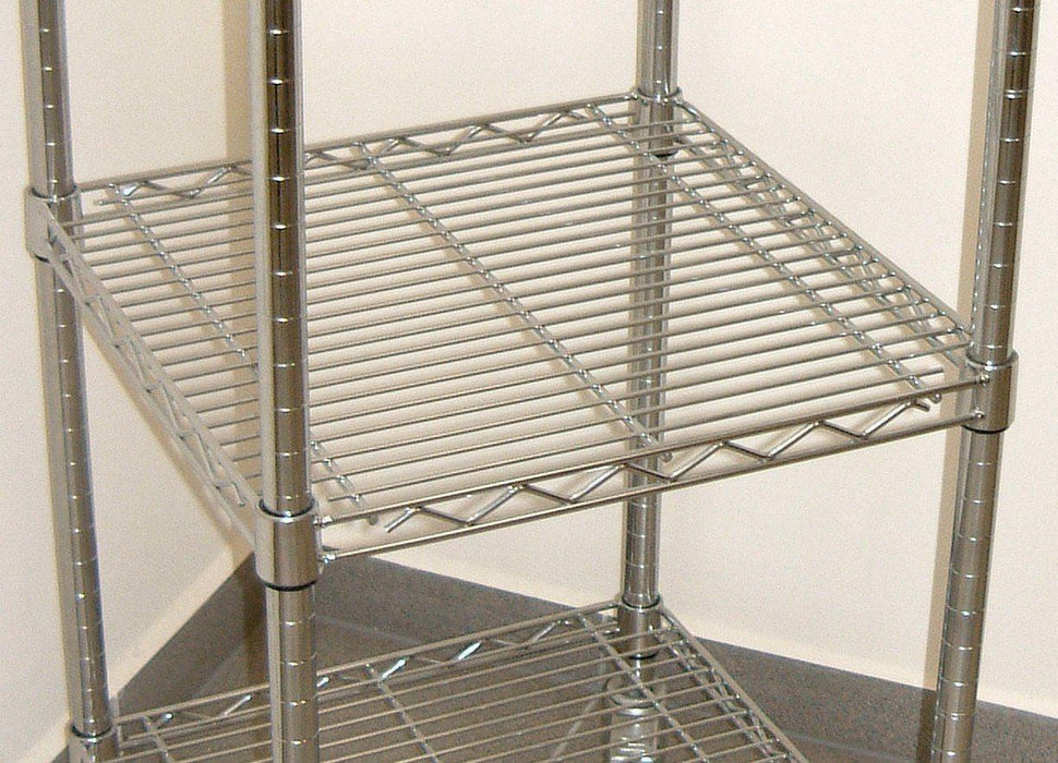 Square Chrome Wire Shelf - 61 x 61cm