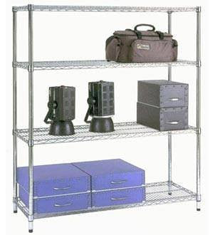 5ft x 2ft chrome shelving unit