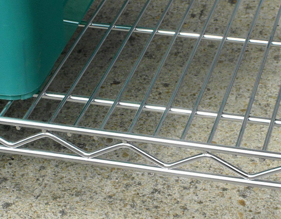 Rectangular Chrome Wire Shelves - 153 x 61cm (60 x 24in)