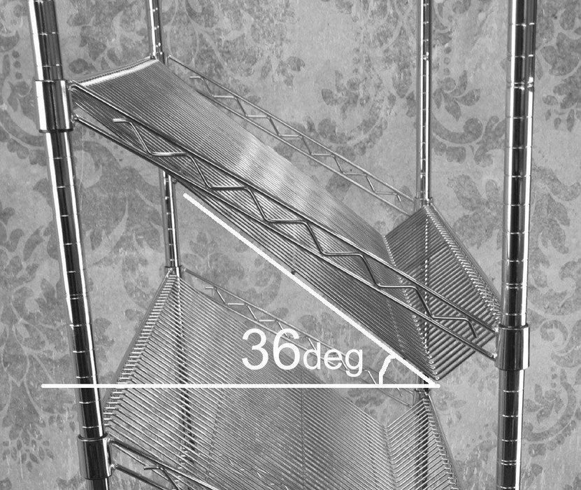 Sloping Chrome Wire Shelves - 122 x 46cm (48 x 18in)