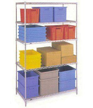 4 Shelf Chrome Shelving Unit - 91.5 x 61cm (36 x 24in) - Choice of heights..