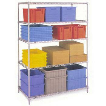 4 Shelf Chrome Shelving Unit - 122 x 61cm (48 x 24in) - Choice of heights..