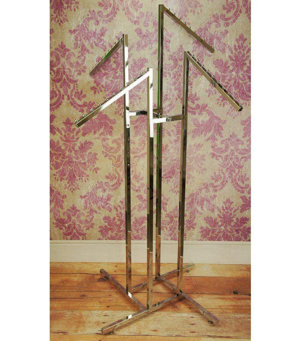 4 Arm Garment Rack - 4x Sloping