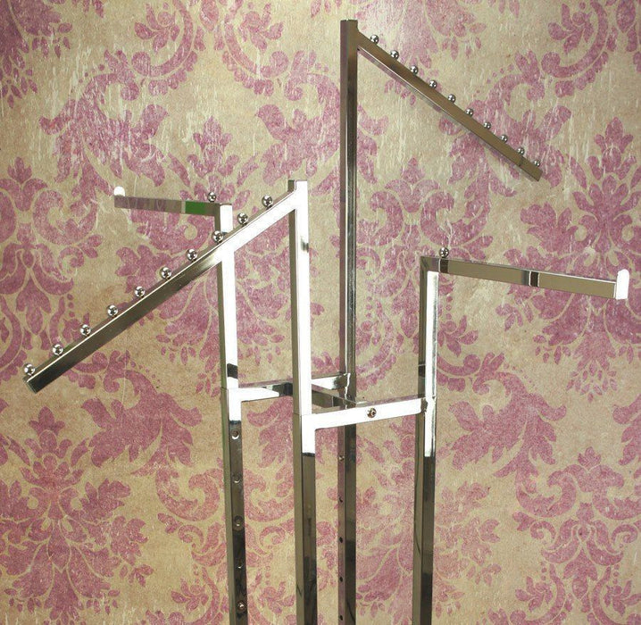 4 Arm Garment Rack - 2x Straight, 2x Sloping