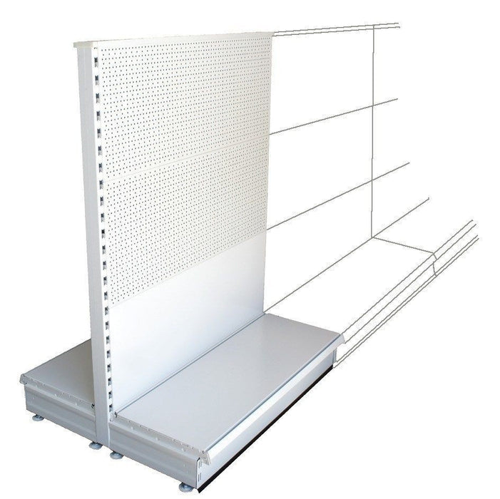 Add-on Gondola Bay - 1.3m high, mixed peg and plain back, 37cm deep base, Choice of lengths...