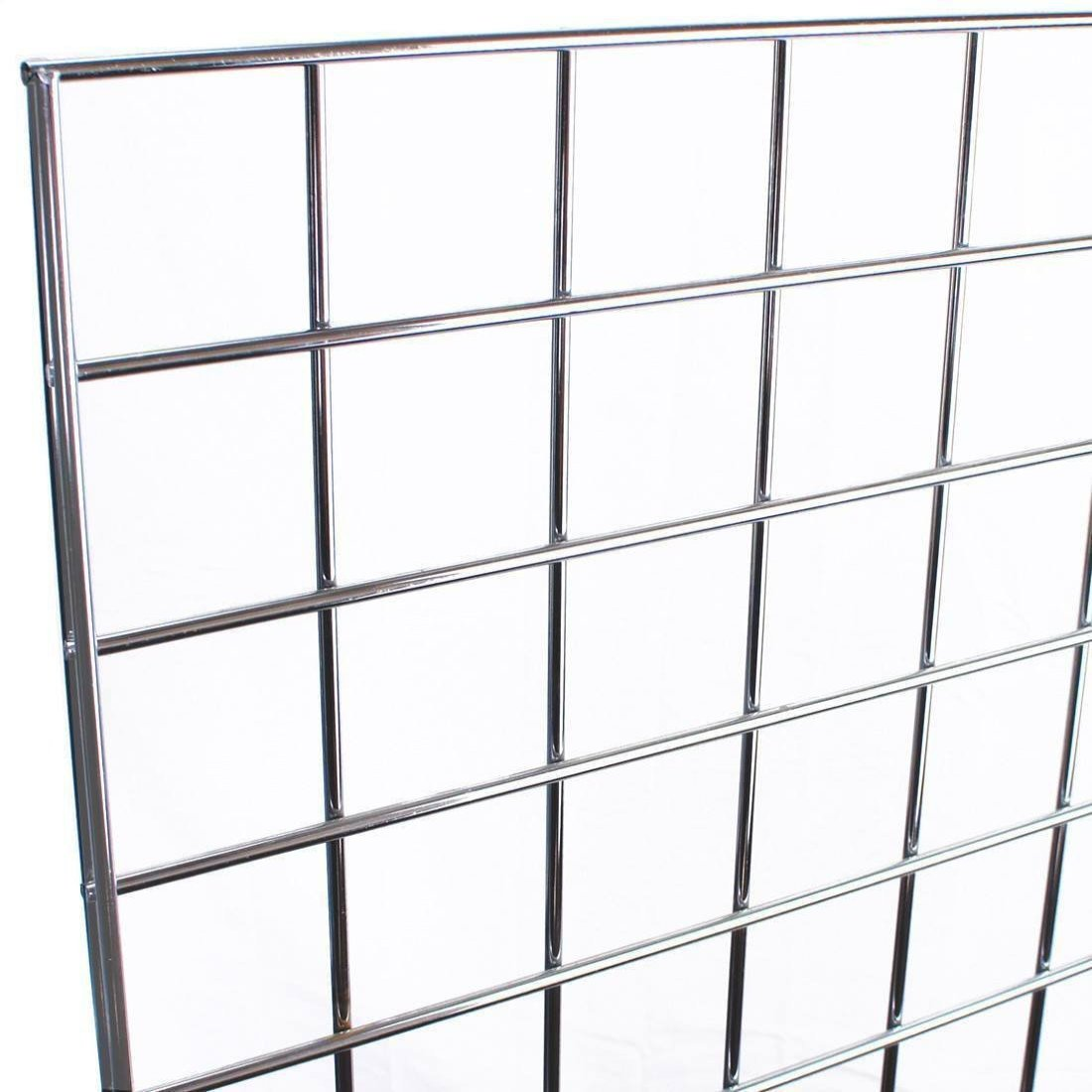 "5 x 12/"" STRAIGHT ARM SQUARE FOR GRIDWALL// GRID WALL MESH CHROME FINISH ACCESSORY"