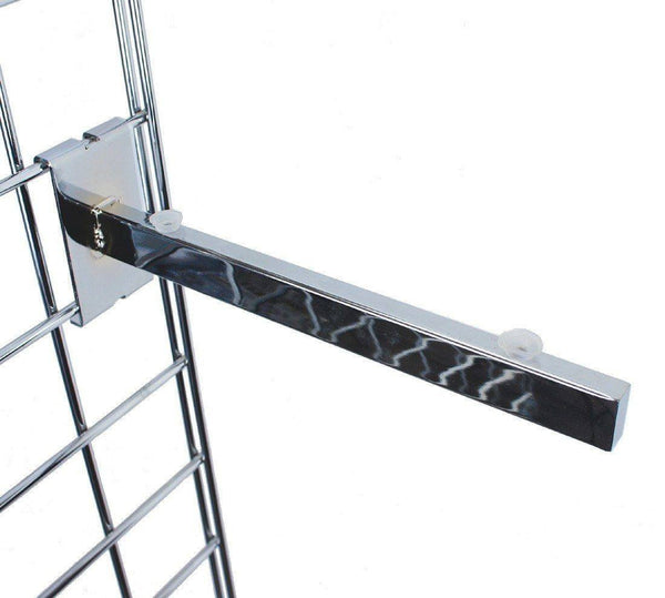 Wood or Glass Shelf Bracket for Grid Panel