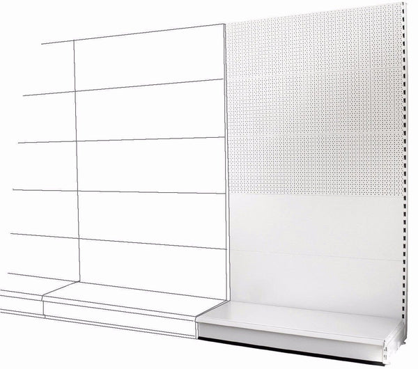 Add-on Wall Bay - Mixed Peg & Plain Back Panels, Choice of widths & heights...