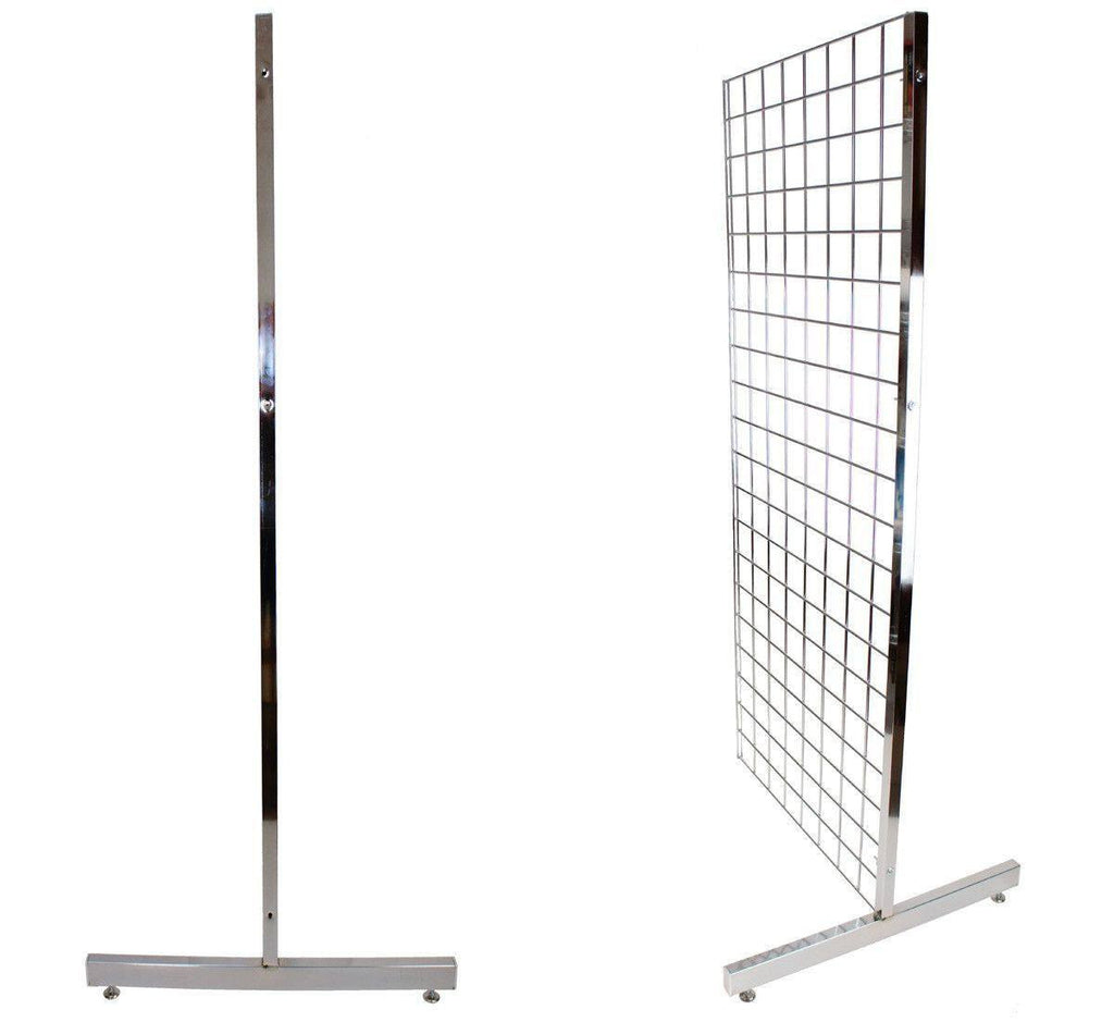 heavy duty T leg for grid panels
