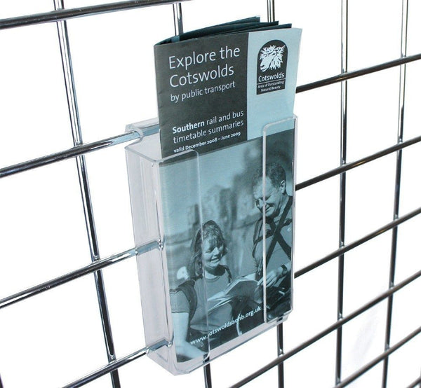 1/3A4 Brochure Holder for grid panel