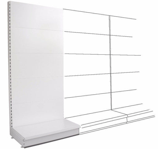 Add-on Wall Bay - Plain Back Panels, 30cm deep base,  Choice of widths & heights...