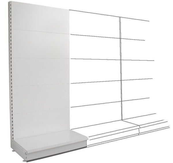 Add-on Wall Bay - Plain Back Panels, 57cm deep base,  Choice of widths & heights...
