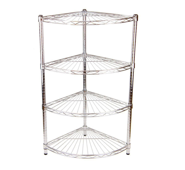 4 Shelf Quartermoon Unit - 61 x 61cm (24 x 24in) - Choice of heights..
