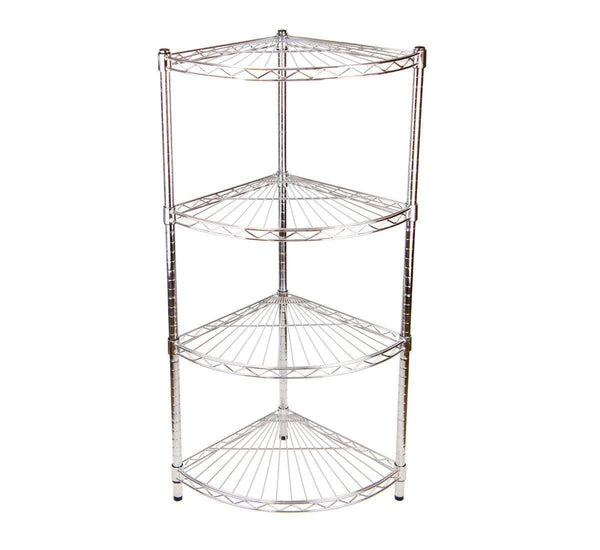 Quartermoon chrome shelving unit