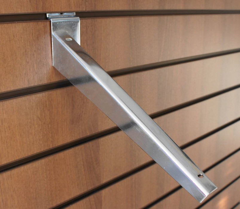 sloping shelf bracket for slatwall
