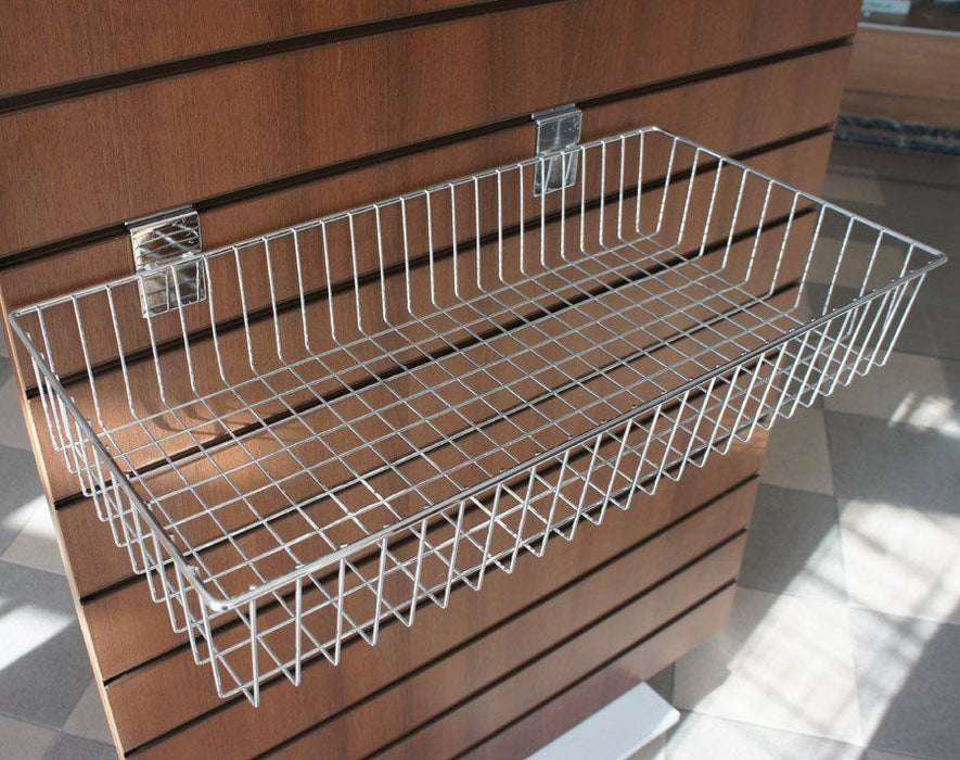 large wire slatwall basket