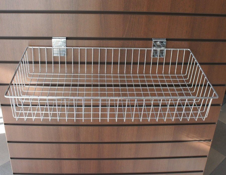 Large Flat Wire Slatwall Basket