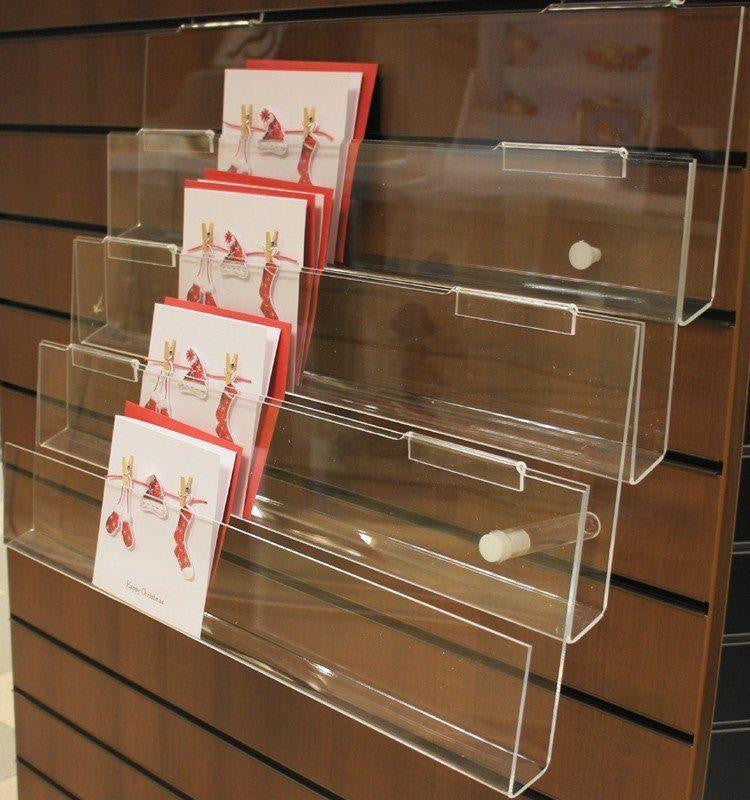 4 tier acrylic card rack