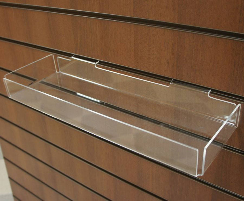 Acrylic Sundries Tray for Slatwall - 45 x 15cm