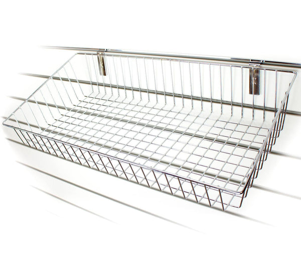 Large Sloping Wire Slatwall Basket