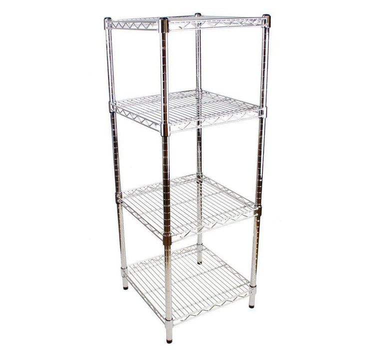 square chrome shelving unit 46 x 46cm